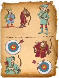 Robin Hood characters from story 1: Robin Hood, who's he?
