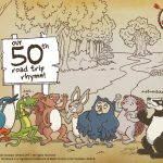 Robin Hood's little outlaws celebrating their 50th Instagram road trip rhyme