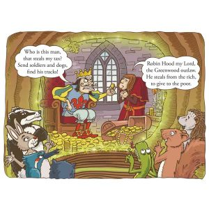 Story detail from Robin Hood's Little Outlaws' first picture book, 'Robin Hood, who's he?'