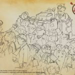 Child evacuees sketch for book 2 cover