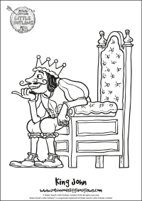 King John character colouring in sheet