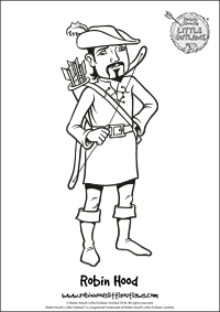 Robin Hood character colouring in sheet