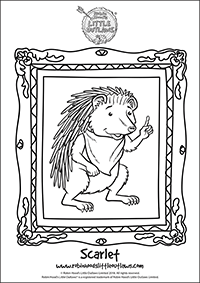 Scarlet the hedgehog character colouring in sheet