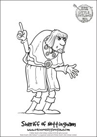 Sheriff of Nottingham character colouring in sheet