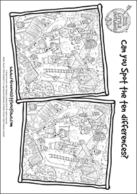 Spot the difference printable activity sheet