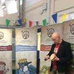Author, Adrian Sissons, visiting Beeston Fields Primary School, Yr3