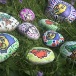 hand painted rocks featuring Robin Hood's Little Outlaws characters
