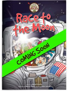 Book cover for story 3 'Race to the Moon' - coming soon