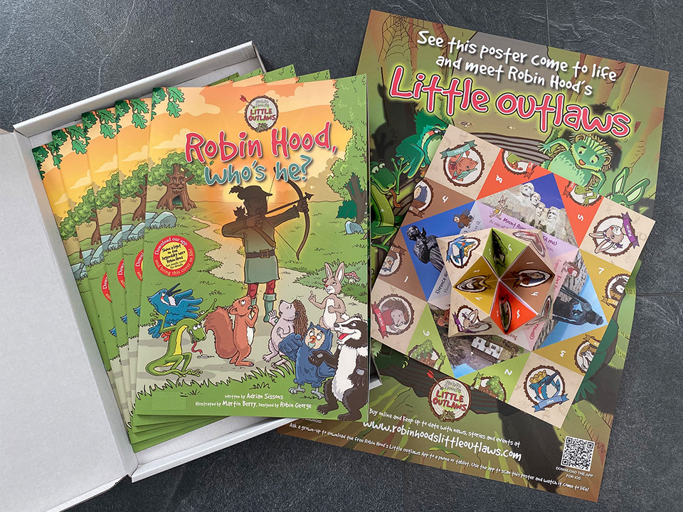 Robin Hood's Little Outlaws Schools Advent Giveaway book packs 2020